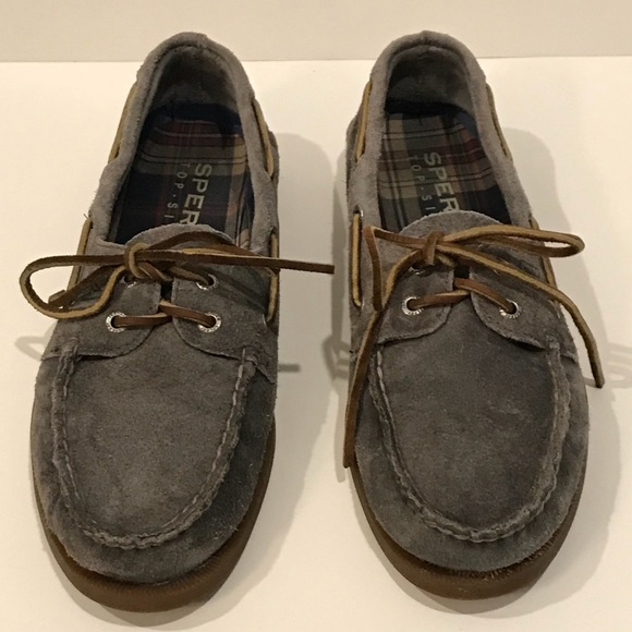 62b3415e01d Sperry Top-Sider Men's Grey Suede Boat Shoes